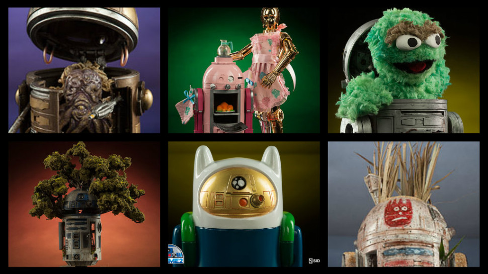 Customized Astromechs Galore in Sideshow Collectibles' R2-ME2 Collection