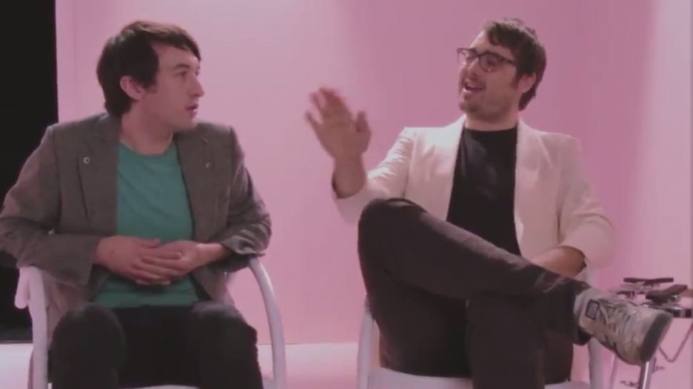 Jonah Ray and Mikal Cronin Recreate Paul Simon's 'You Can Call Me Al' Music Video