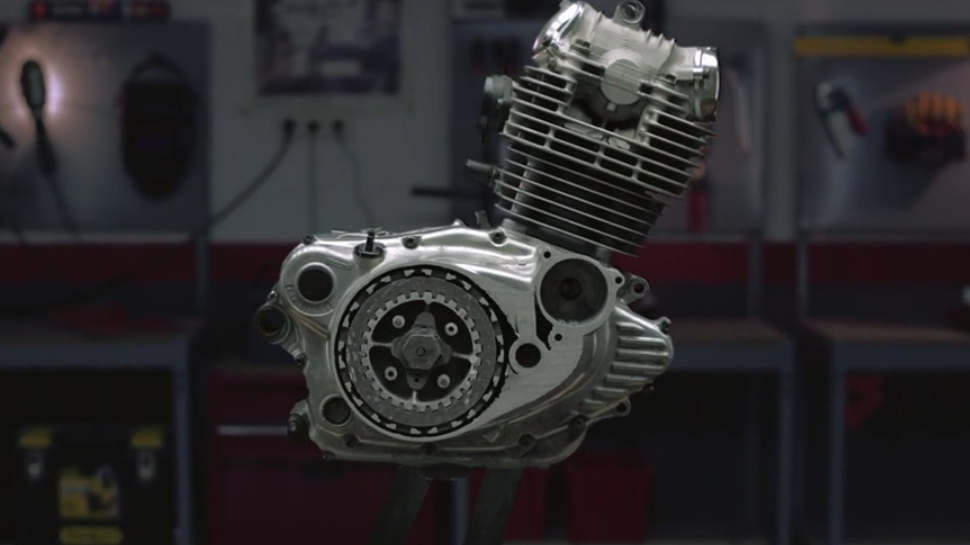 Watch a Mototcycle Engine Get Sanded Down Millimeter by Millimeter