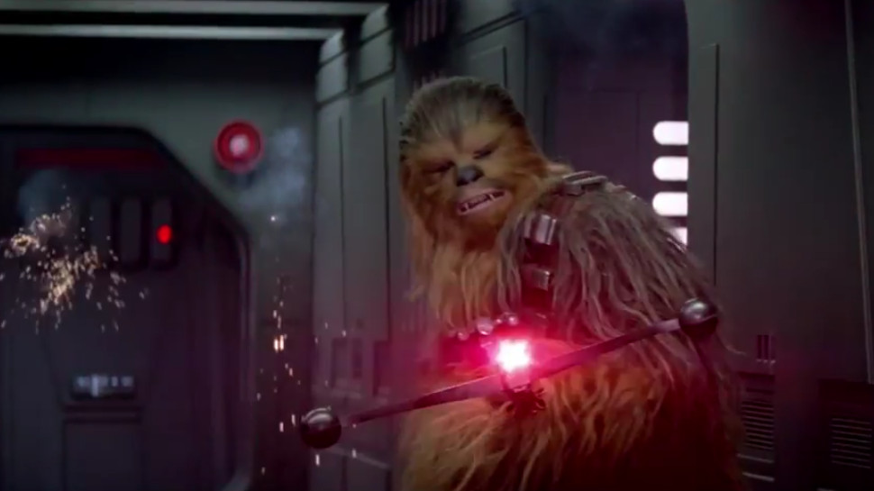 Movie Morsels: Watch STAR WARS: THE FORCE AWAKENS' Chewbacca and BB-8 Battle the First Order in Verizon Ad
