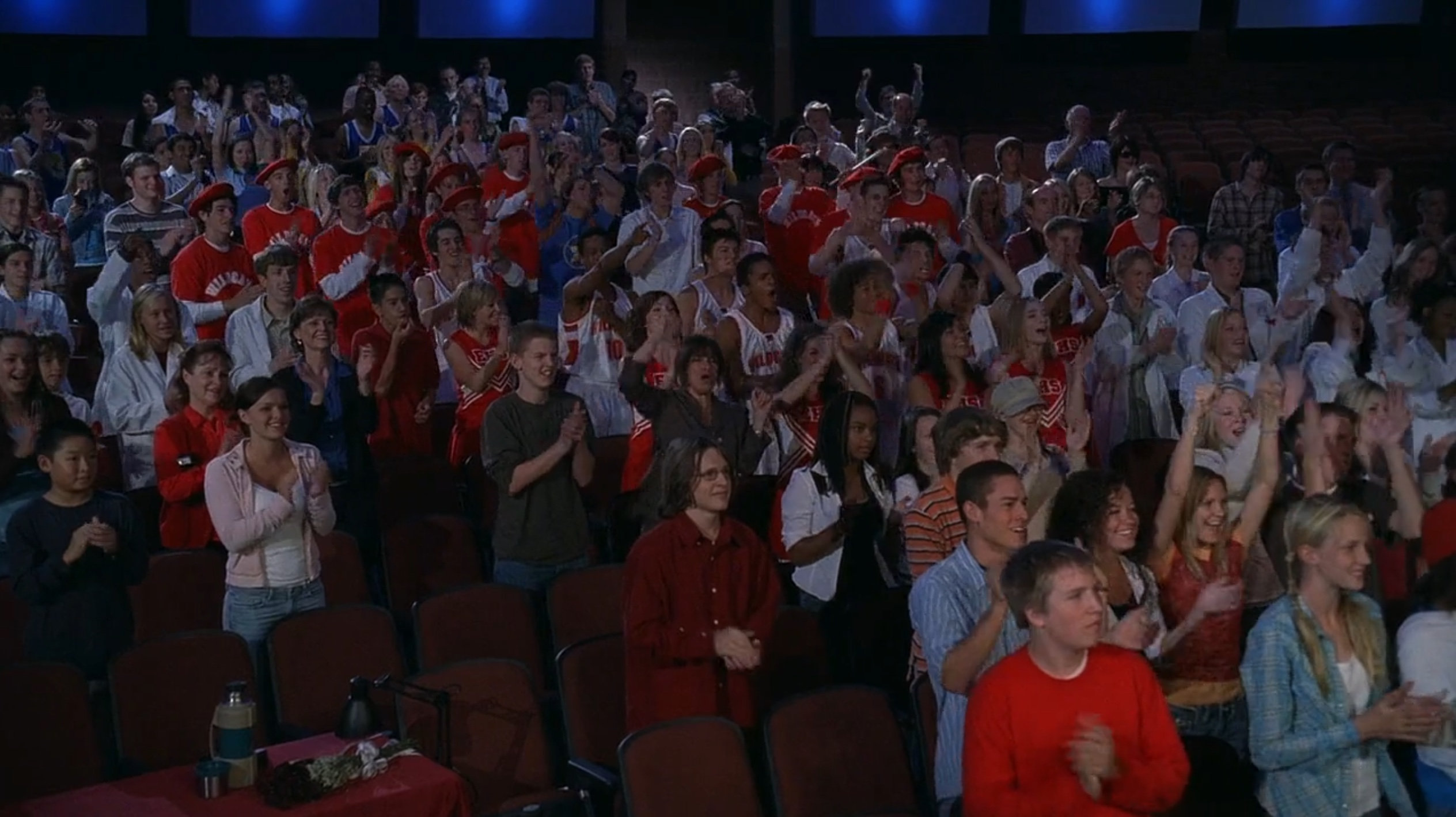 crowd at rehearsal, standing ovation
