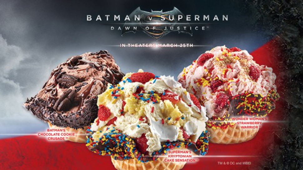 BATMAN V SUPERMAN: DAWN OF JUSTICE Ice Cream Gives Heroic Brain Freeze