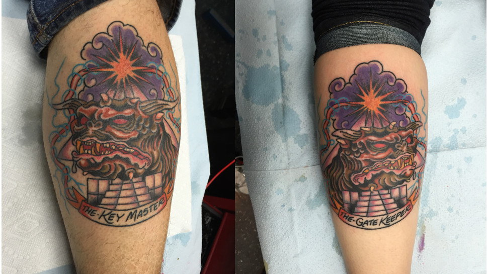 His and Hers GHOSTBUSTERS Tattoos and More Geeky Ink