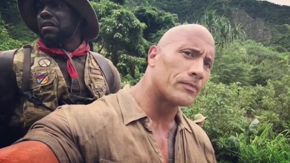 The Rock, Kevin Hart Get Real Close inJUMANJI Behind-The-Scenes Video