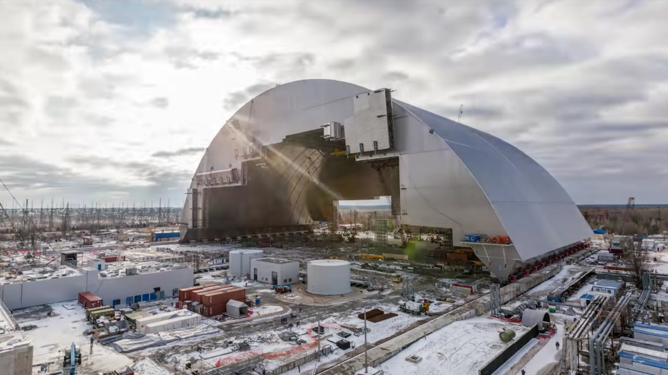 Monumental Cover Placed over Chernobyl's 'Sarcophagus' in