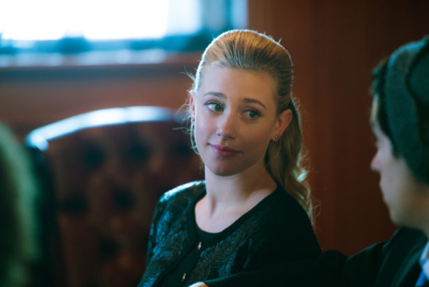 "Riverdale -- ""Chapter Five: Heart of Darkness"" -- Image Number: RVD105b_0340.jpg -- Pictured: Lili Reinhart as Betty Cooper -- Photo: Diyah Pera /The CW -- © 2017 The CW Network. All Rights Reserved"