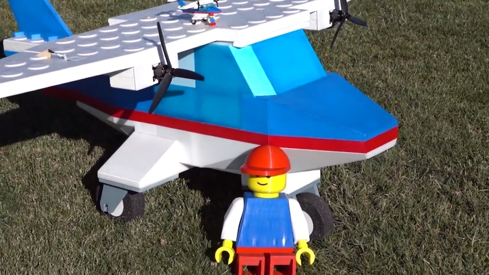 This Giant LEGO Airplane Actually Flies (But It's Not Actually Made Of LEGO)