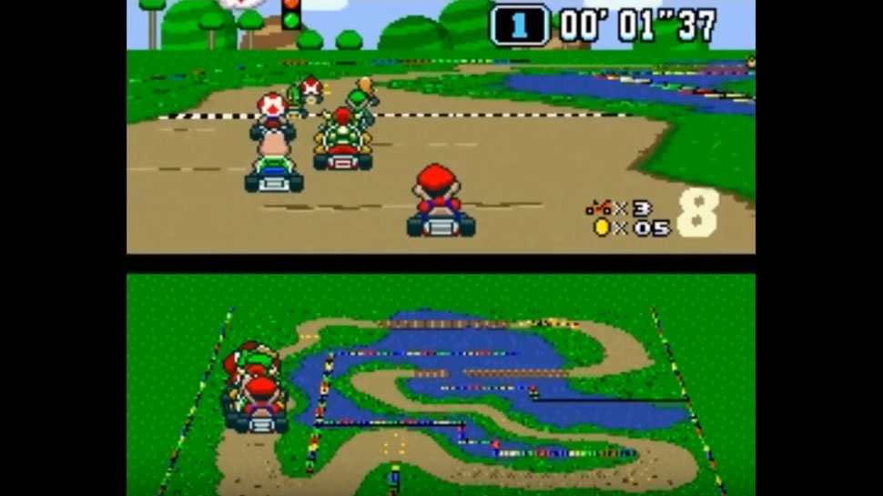 Watch a Neural Network Attempt to Play SUPER MARIO KART