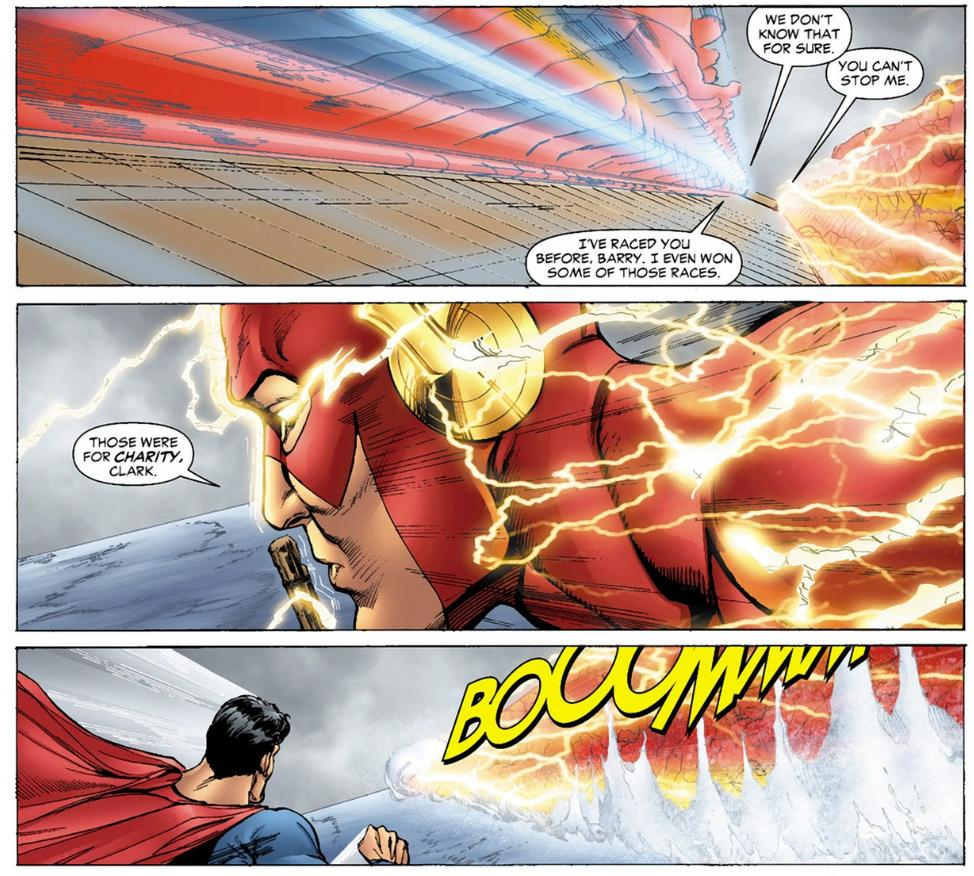 A Brief History of Why The Flash is Faster Than Superman