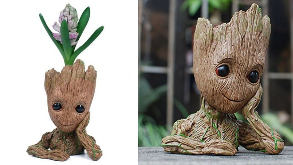 Guardians Of The Galaxy S Baby Groot Becomes An Adorable Flower Pot