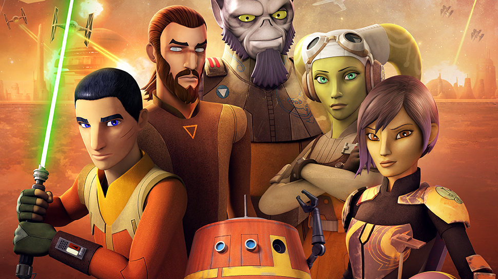 The main characters on Star Wars Rebels