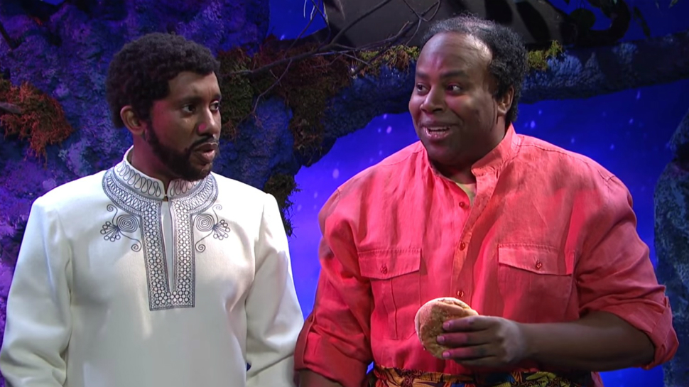 "BLACK PANTHER's Goofy Uncle Is Revealed in SNL ""Deleted Scene"" Spoof"