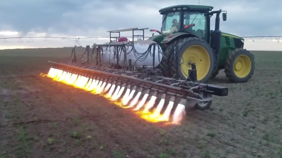 Farmers Are Using Flamethrowing Tractors to Get Rid of Weeds and Pests