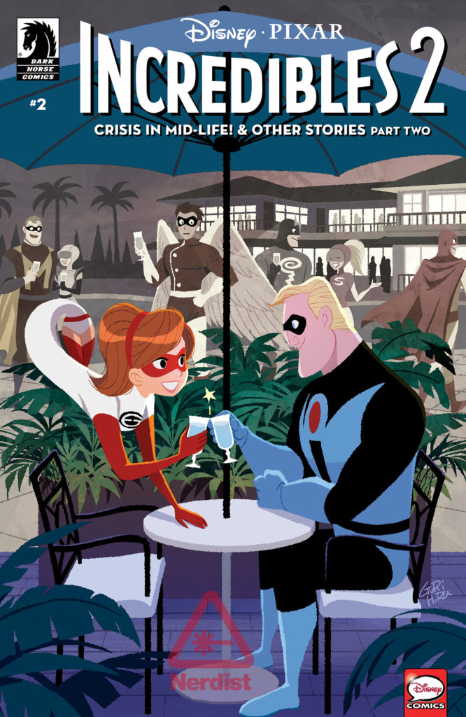 INCREDIBLES 2 Comic Cover Shows Elastigirl and Mr. Incredible on a Date (Exclusive)_2