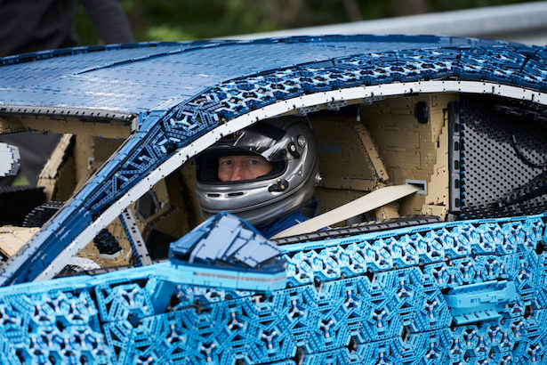 Lego built an incredible full-size Bugatti that you can totally drive!