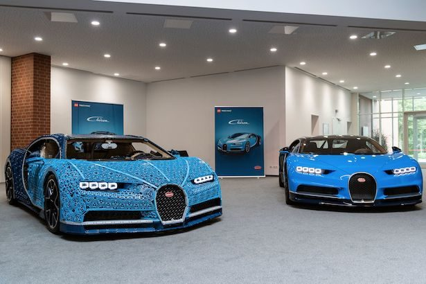 This life-size Bugatti Chiron model is made of 1 million Lego pieces