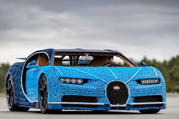 Full-size Lego Bugatti Chiron is driveable!