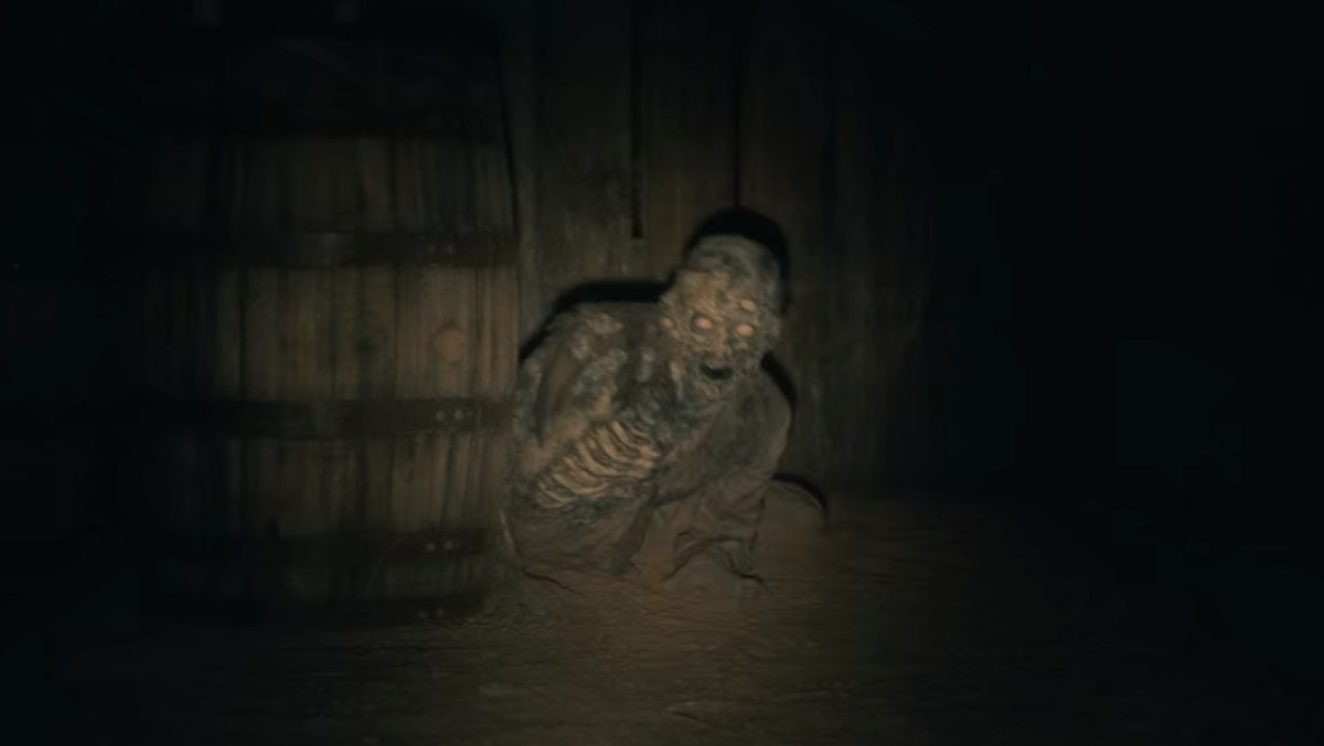 A zombie man crawls towards the camera in a scene from The Haunting of Hill House.