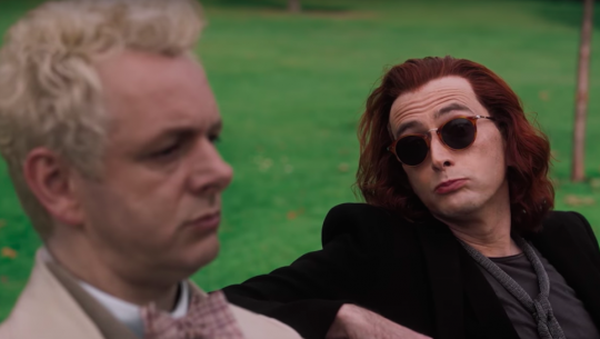 GOOD OMENS Trailer Teams Up Angel Michael Sheen and Demon David Tennant