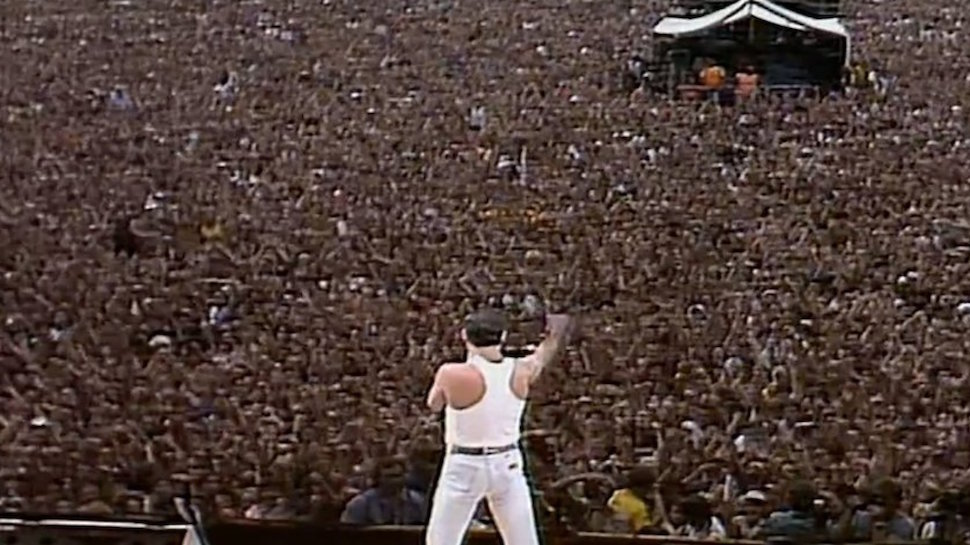 Image result for queen live aid crowd