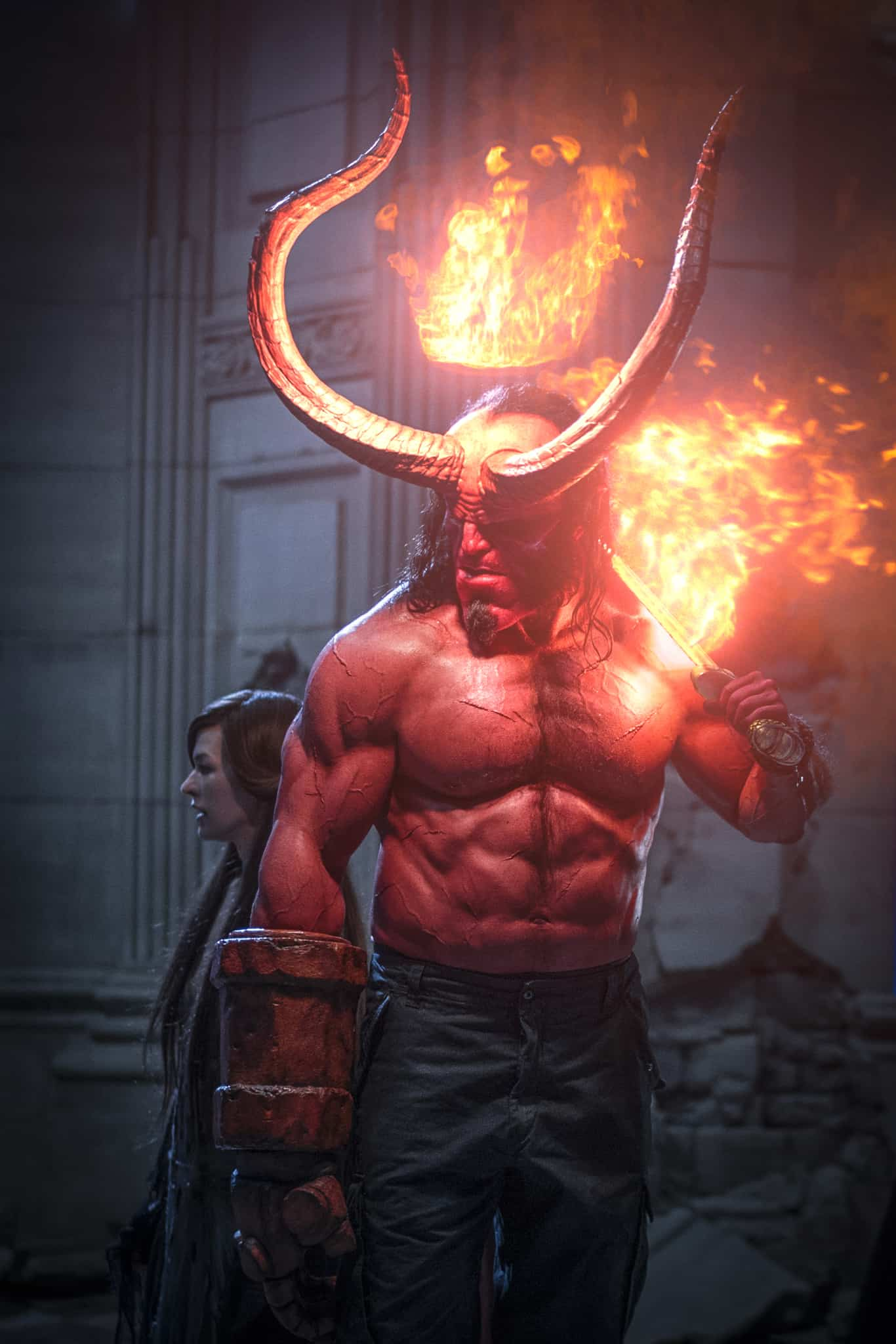 New HELLBOY Clip Has Big Red Facing Down the Blood Queen (Exclusive)_2