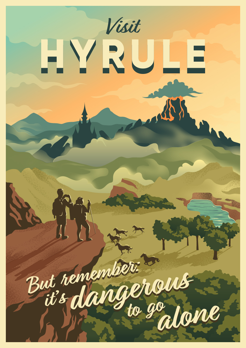 Revisit Your Favorite Video Game Worlds with These Vibrant Travel Posters_2