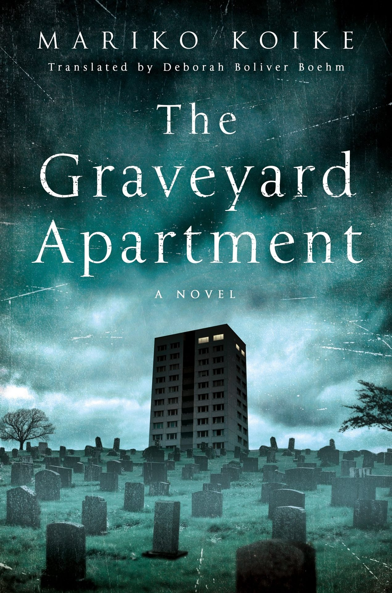 A high rise overlooking a cemetery on The Graveyard Apartment cover
