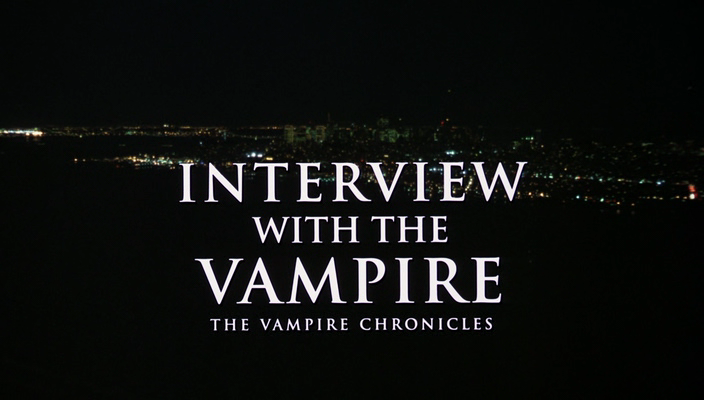 The title card to 1994's Interview with the Vampire