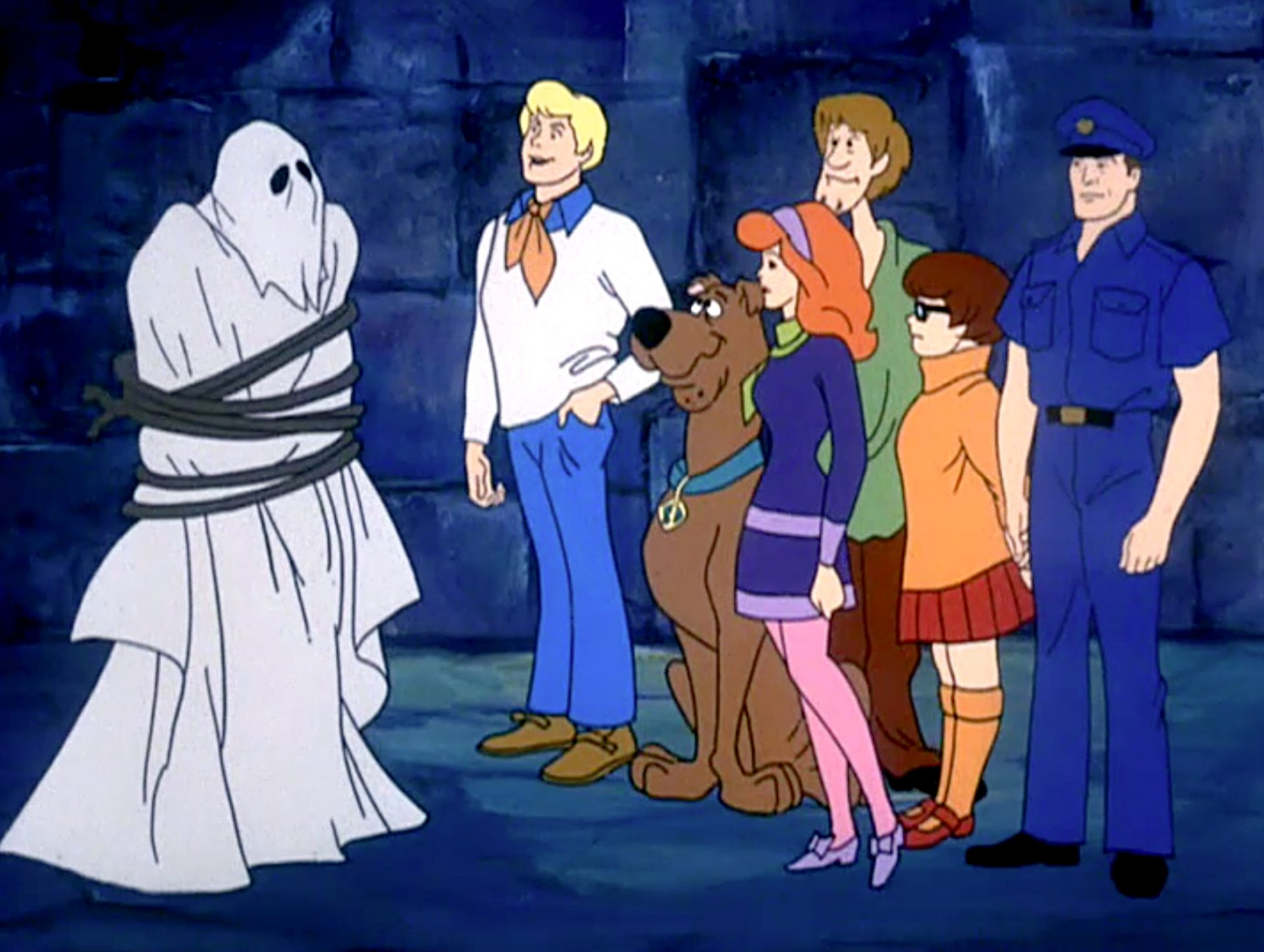 The Scooby gang unmask a ghost