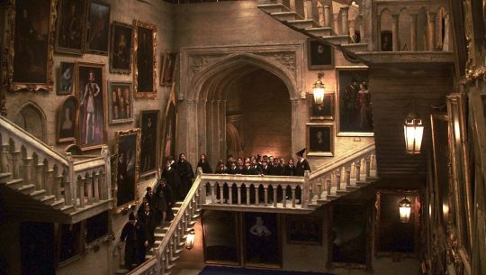 Moving staircase at Hogwarts