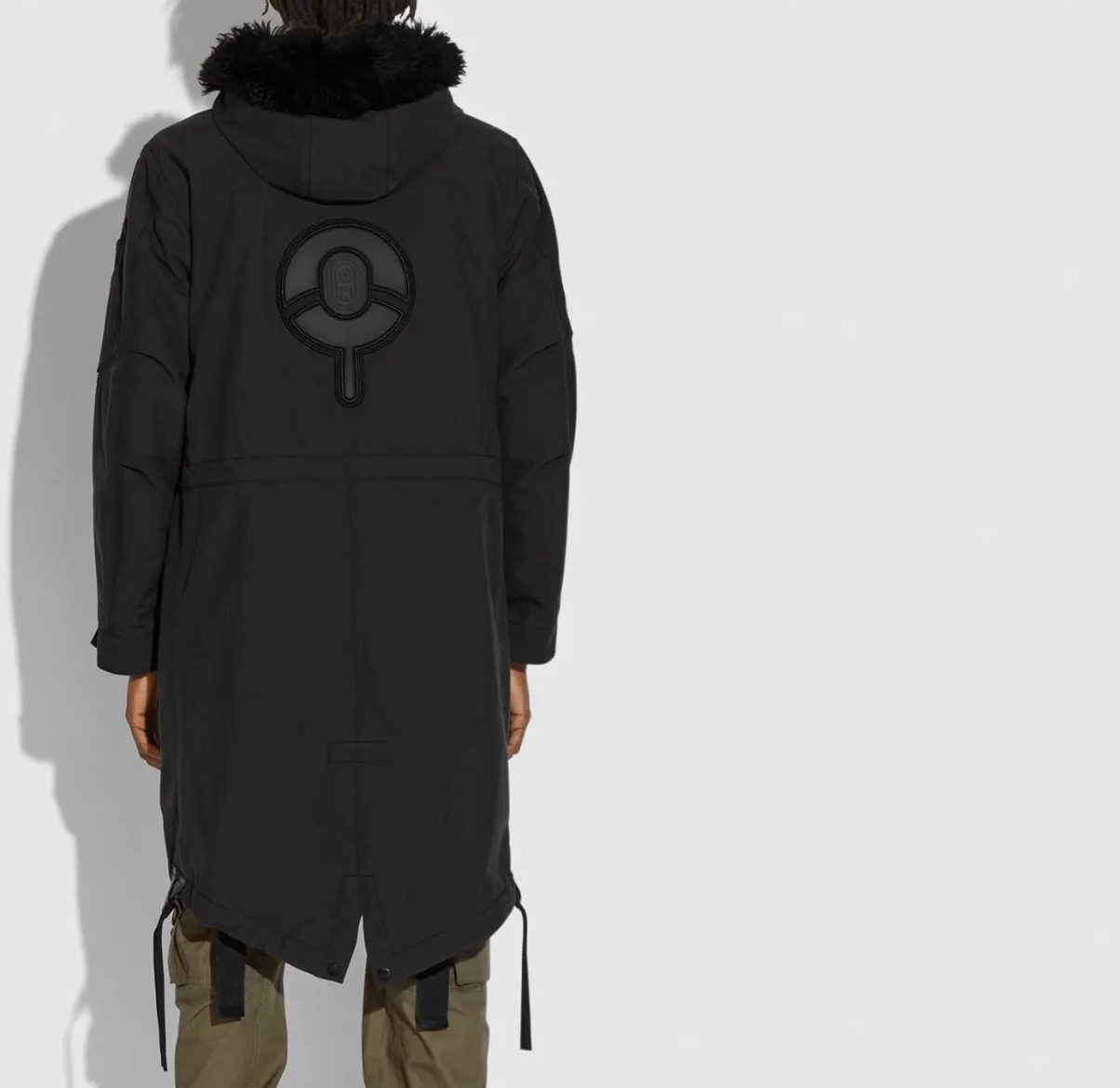 A three-in-one parka from Michael B. Jordan's  Naruto-inspired Coach collection