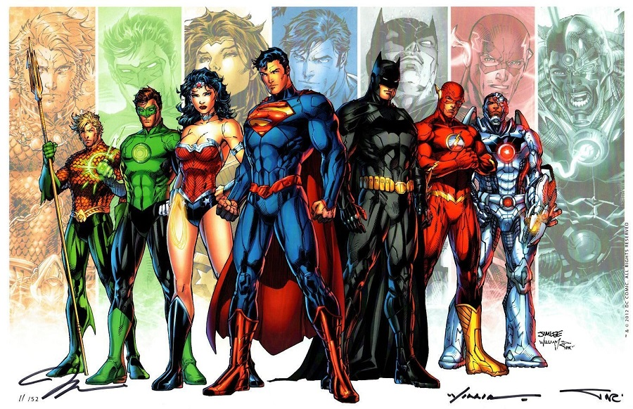 The modernized, New 52 era Justice League