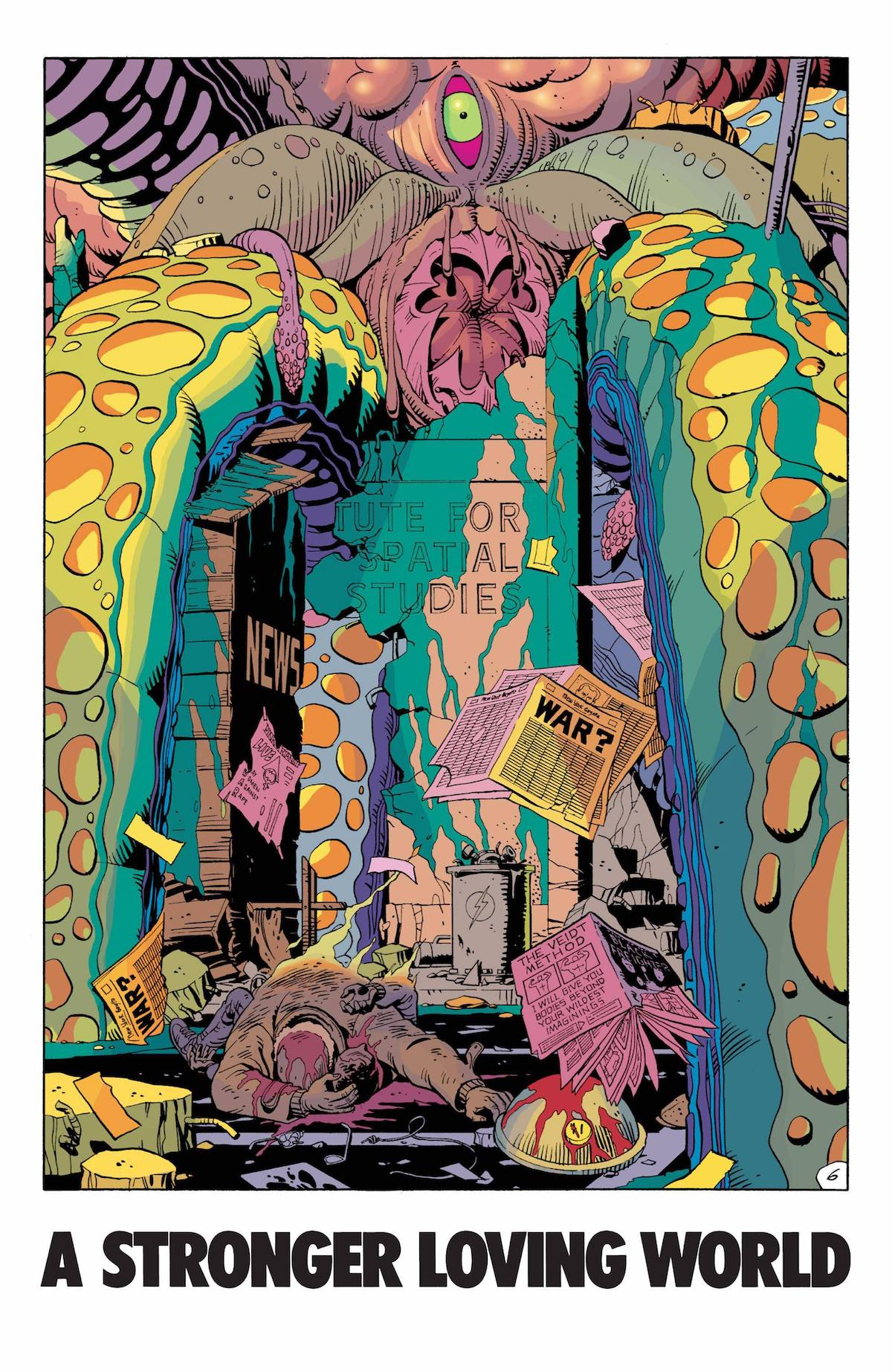 Giant Squid Panel from Watchmen comic