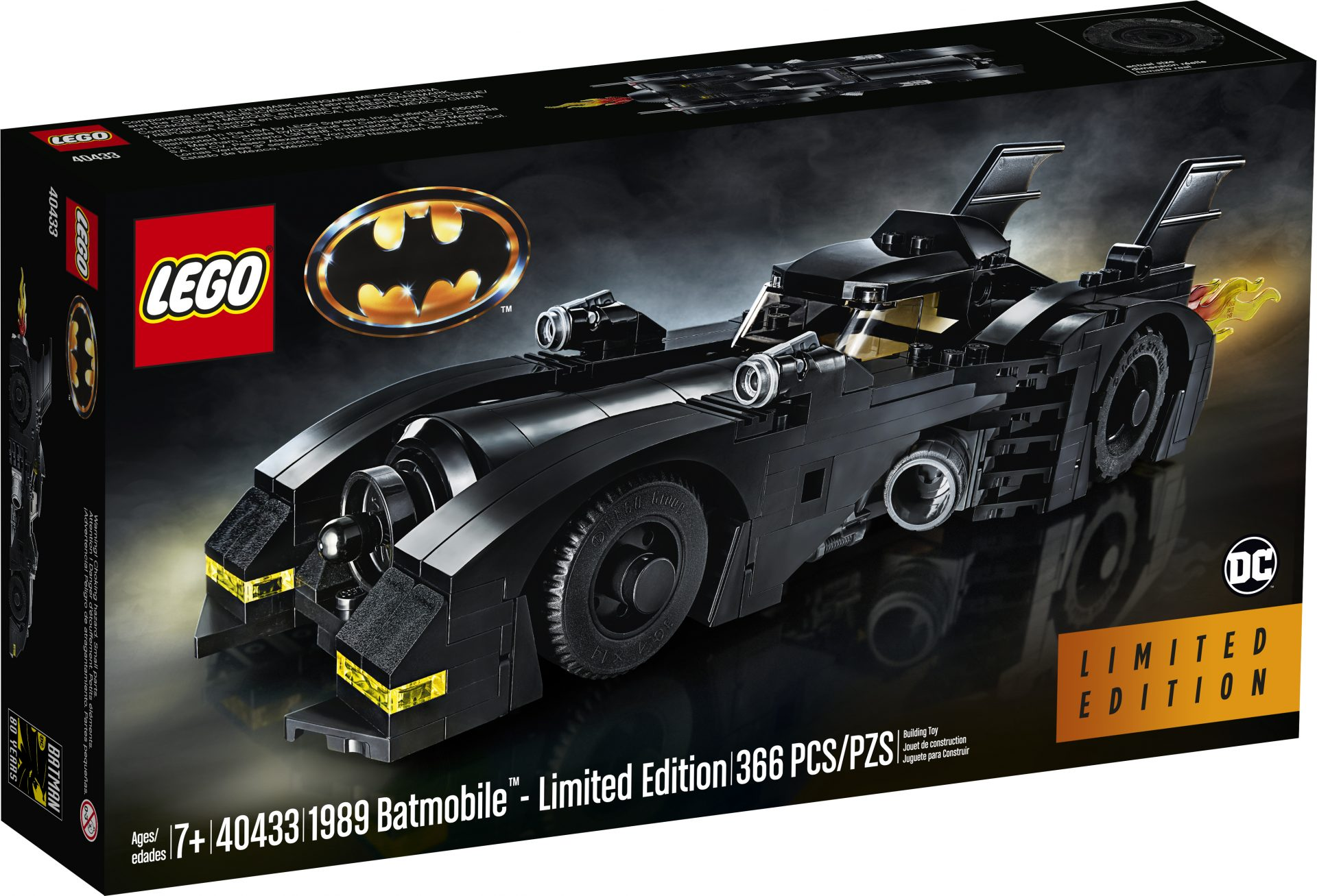 Box art for the new limited edition version of the new LEGO Batmobile
