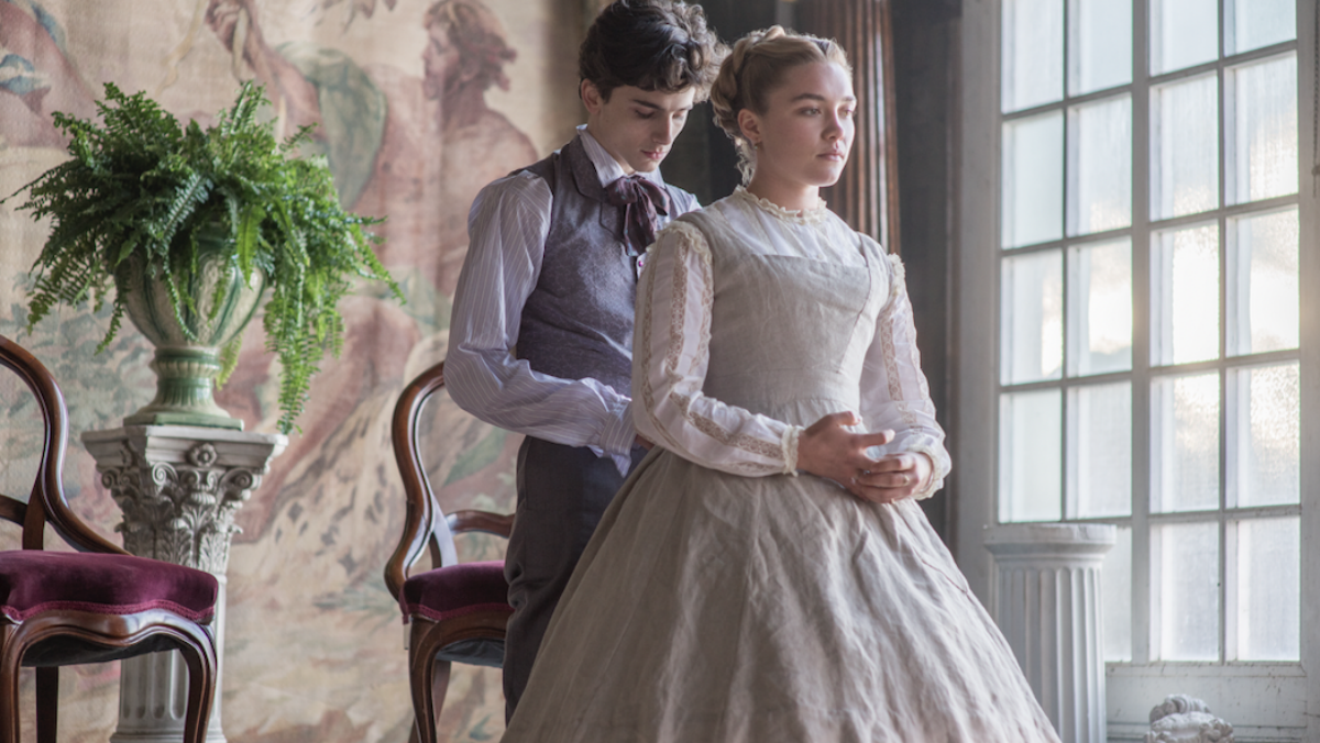 Timothee Chalamet and Florence Pugh in Little Women.