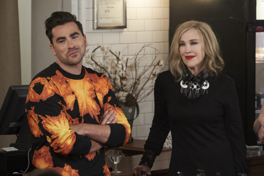 Dan Levy and Catherine O'Hara on Schitt's Creek