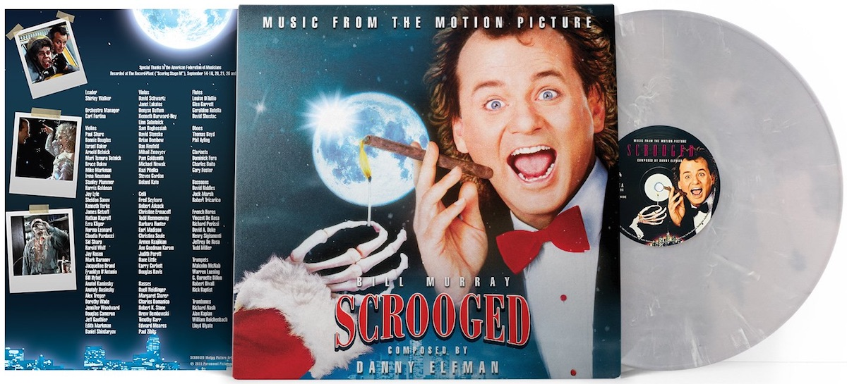 Album cover for Scrooged with Bill Murray