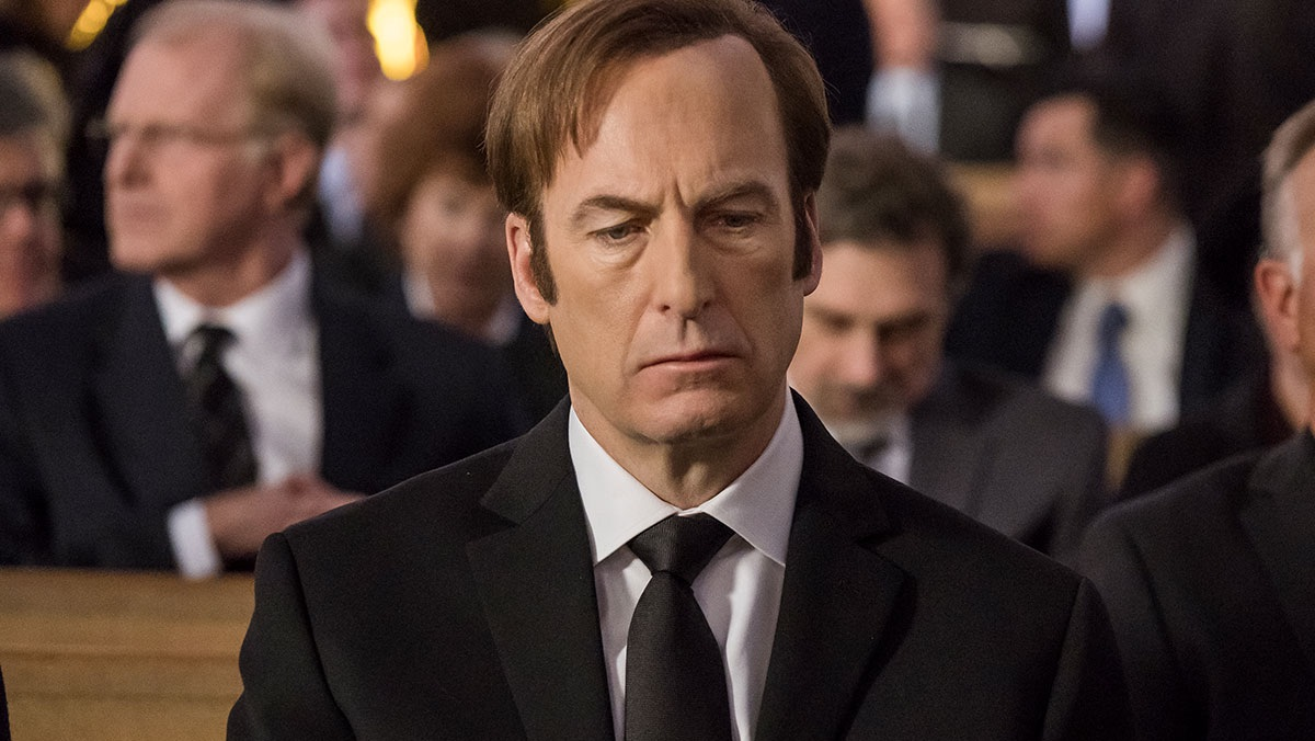 Jimmy McGill at his brother's funeral