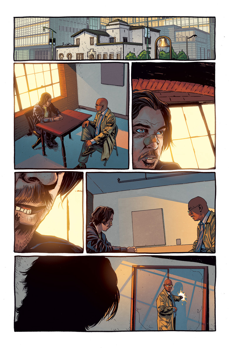 this page of a comic shows two men having an intense conversation