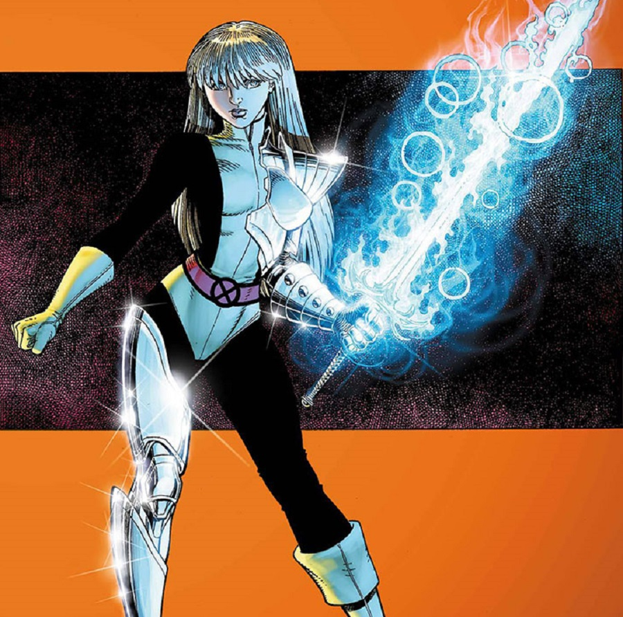 The Soulsword extends mystical armor on Illyana's body in the pages of the comics.