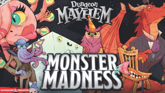 Colorful characters from the card game Dungeon Mayhem: Monster Madness