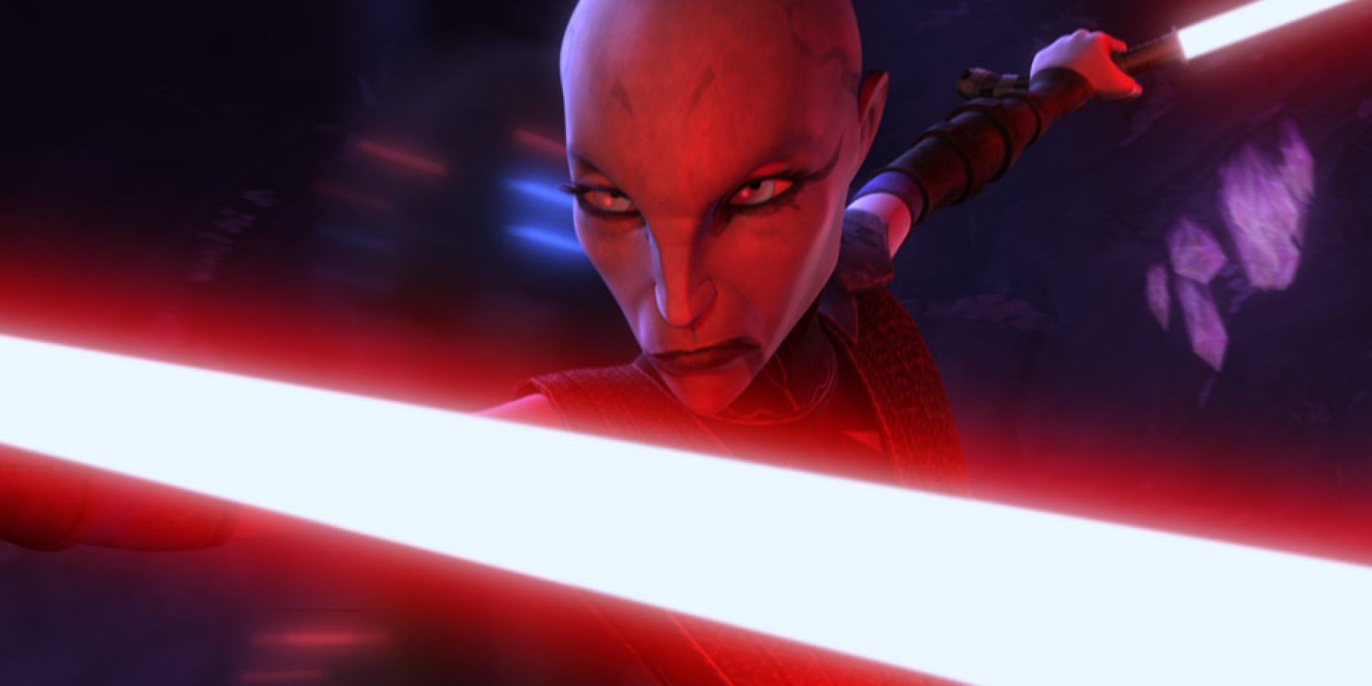 Asajj Ventress looks menacing
