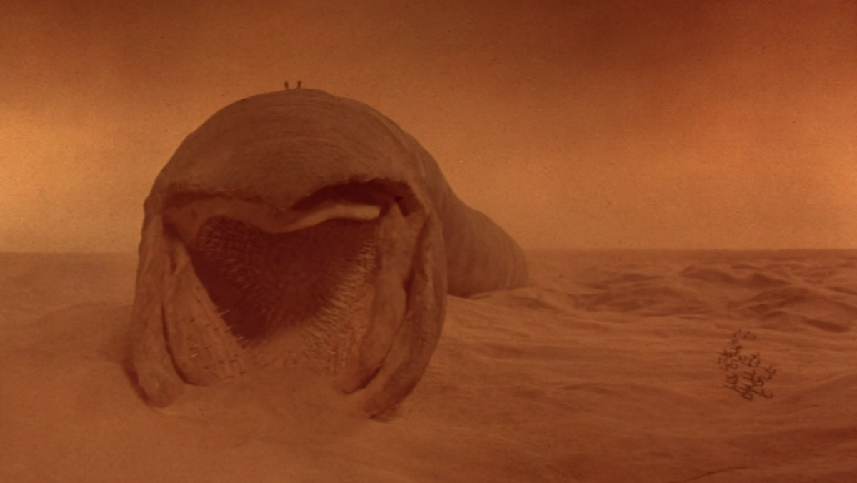 The sandworm from David Lynch's Dune.