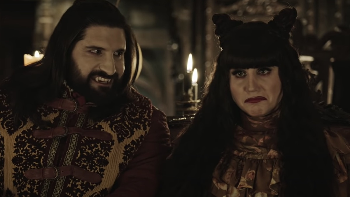 Vampires smile and scowl in What We Do in the Shadows