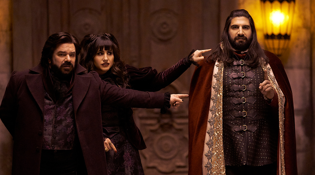 Laszlo, Nadja, and Nandor in What We Do In the Shadows.