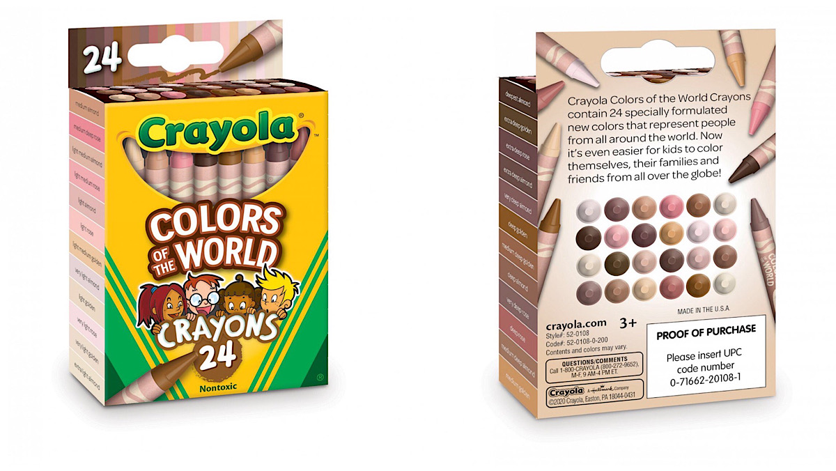 Box for Crayolas Color of the World skin tone crayons.