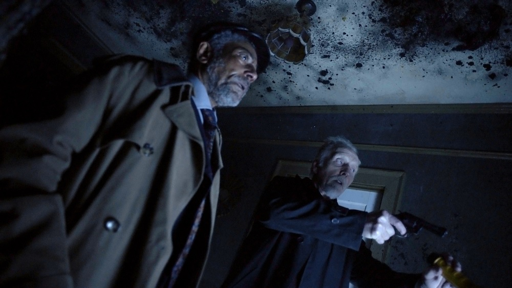 Giancarlo Esposito and Tobin Bell in Greg Nicotero's adaptation of Stephen King's Gray Matter