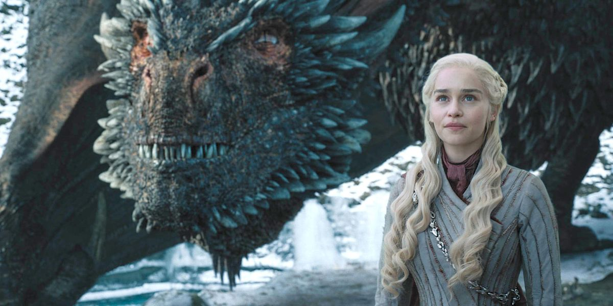 Daenerys stands with Drogon
