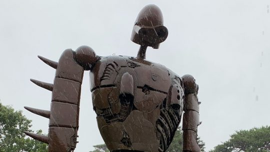 One of the Castle in the Sky robots outside the Ghibli Museum.