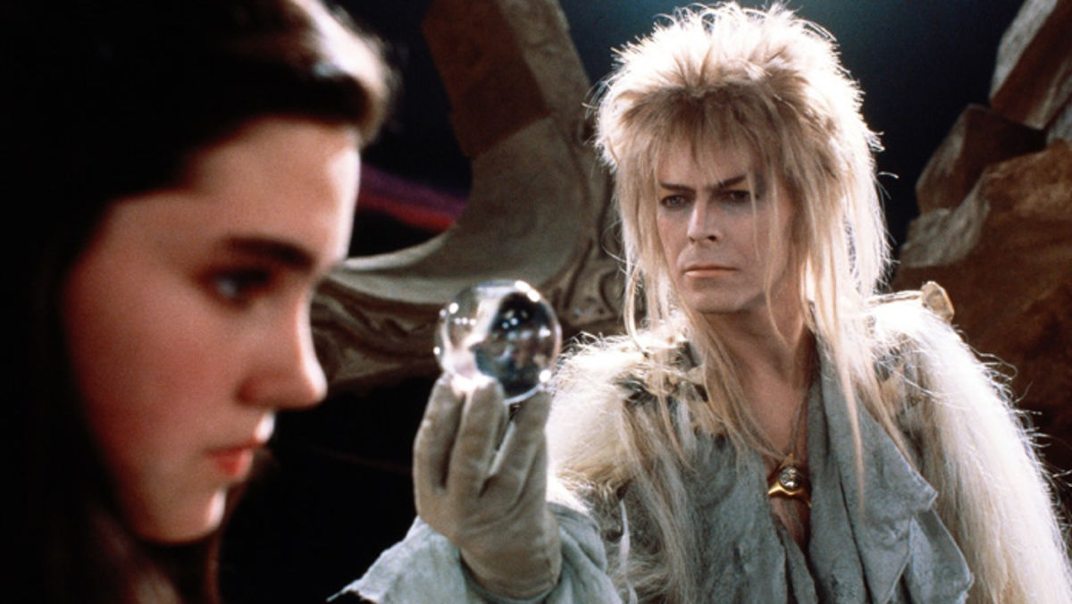 Jennifer Connelly and David Bowie in the original 1986 Labyrinth.